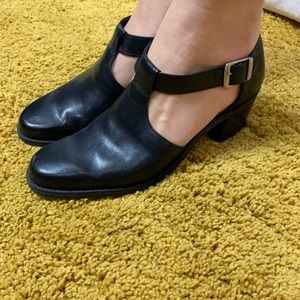 westies Shoes - Westies Black Leather Mary Jane shoes block heel